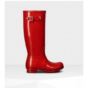 Red Tall Hunter Boots